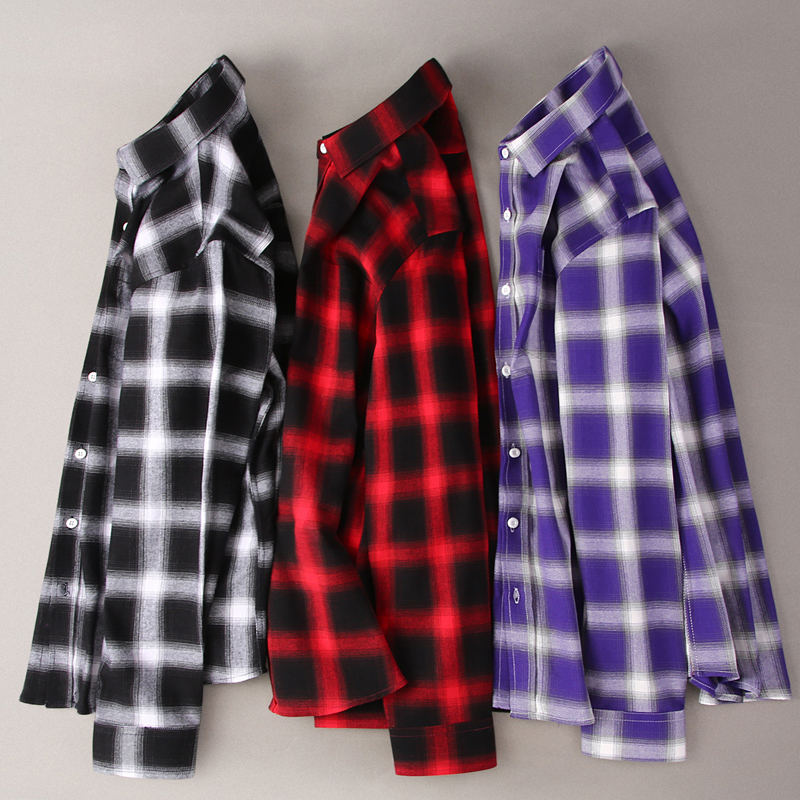 2019 100 Cotton Men Shirts Flannel Plaid Long Sleeve Soft Quality Men Shirt Spring Autumn Casual Man Shirt 5XL Plus Size XT821 in Casual Shirts from Men 39 s Clothing