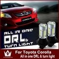 Ночь Господь Для Corolla 2007-2014 7440 LED DRL Дневного Света и Передние Сигналы Поворота все в одном