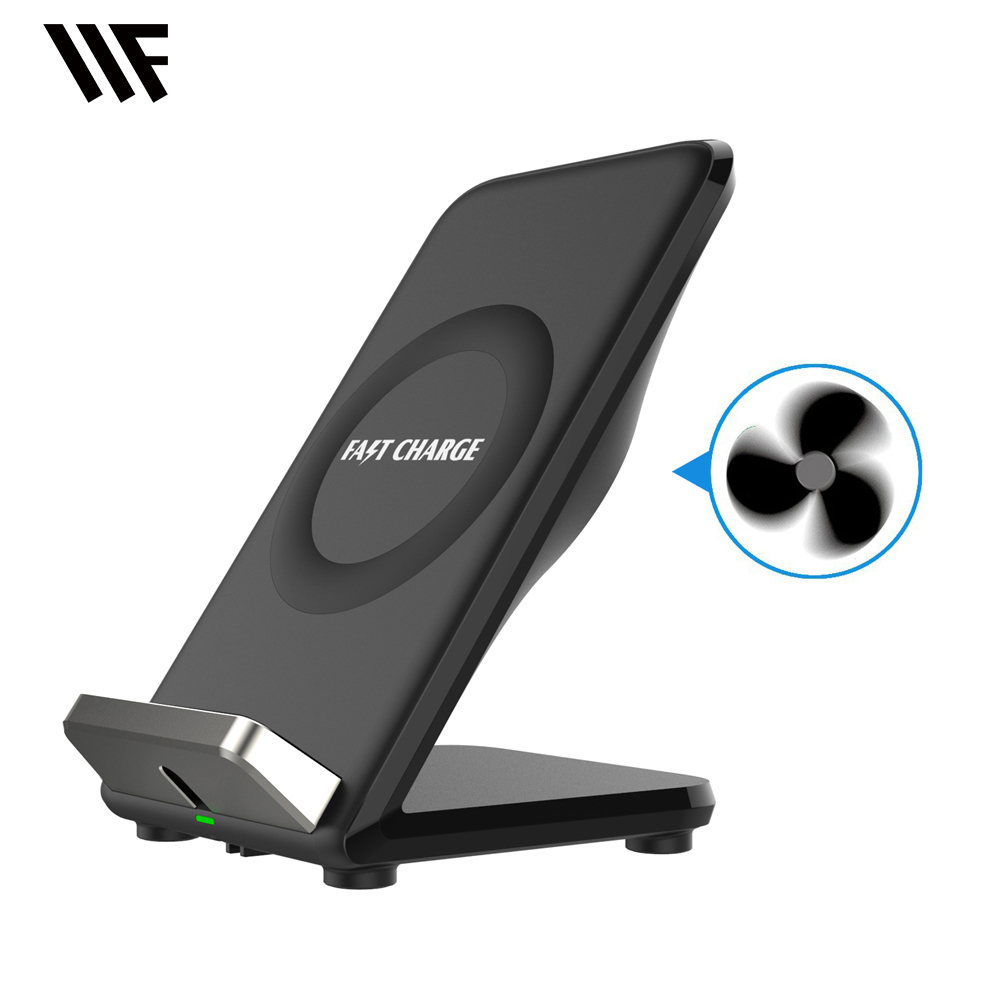 Wifun F18 QI Fast Wireless Charger For Samsung Galaxy S8 S7 S6 Edge For iPhone X 8 8 Plus Desk phone holder stand charger