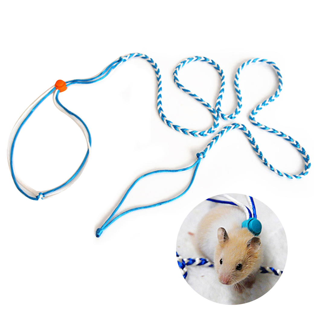 Rabbit Hamster Harness Leashes Outdoor Leads Pet Accessories Pet Leashes Pet Adjustable Leash Collar For Rabbit Squirrel Pet