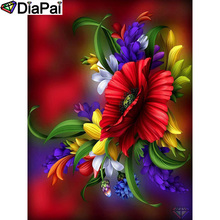 DIAPAI 100% Full Square/Round Drill 5D DIY Diamond Painting Flower landscape Diamond Embroidery Cross Stitch 3D Decor A21058 diapai diamond painting 5d diy 100% full square round drill flower landscape diamond embroidery cross stitch 3d decor a24368