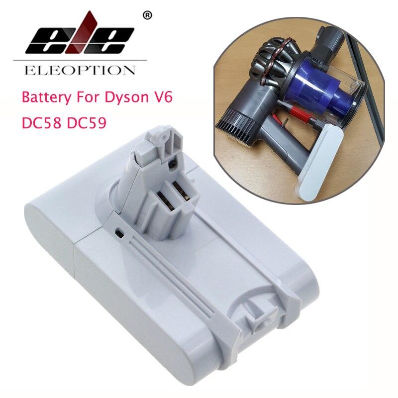 ELEOPTION 21,6 V 3000 mAh Li-ion batería de repuesto para Dyson V6 colchón mano inalámbrico aspiradora para Dyson DC58 DC59