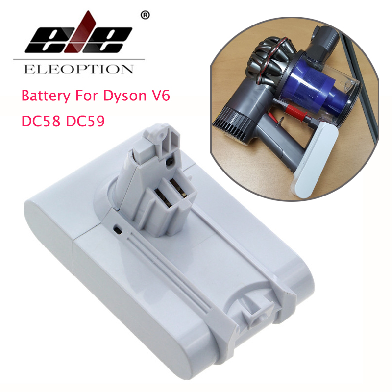 ELEOPTION 21.6V 3000mAh Li-ion Replacement Battery For Dyson V6 Mattress Cordless Handheld Vacuum Cleaner For Dyson DC58 DC59 пылесос ручной handstick dyson v6 cord free extra