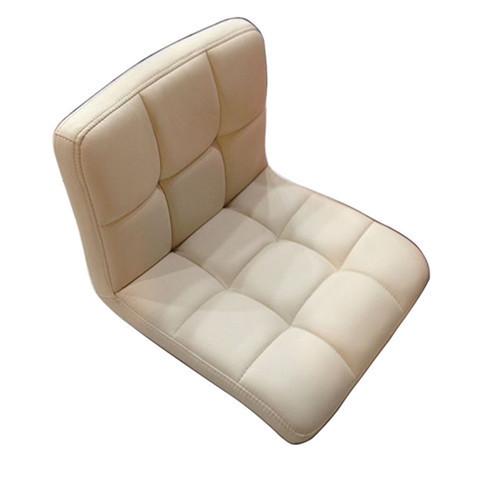 Piso Cadeira Giratória de 360 Graus de Couro Bege Sofá Sala de estar Mobiliário Japonês Zaisu Tatami Meditação Encosto Sem Pernas Cadeira