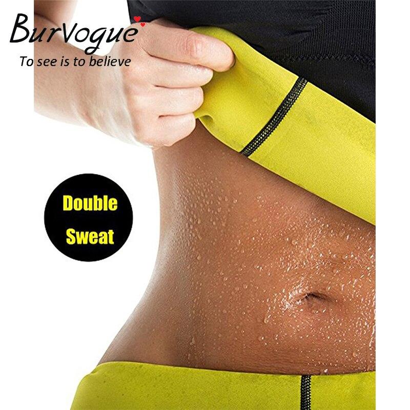 Burvogue Women Shaper Neoprene Abdominal Slimming Belt Sweat Sauna Neoprene Body Shaper Belt Hot Shapers Waist Trainer Corset