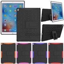 Мягкий силиконовый чехол для iPad 9,7 2017 2018 Kickstand Жесткий Чехол для Apple iPad Гибридный противоударный чехол-броня A1893 A1954