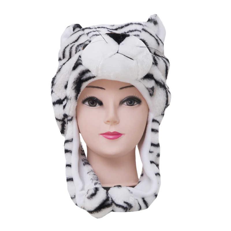 8e030694411 ... Cute Plush Cartoon Animal Hats Scarf Adult Child Winter Fluffy Warm  Character Earflap Cap Beanies Novelty ...