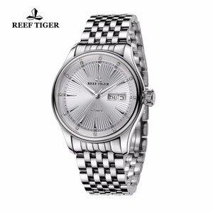 2020 Риф Тигр/RT роскошные часы для мужчин браслет из нержавеющей стали синий циферблат Автоматические наручные часы RGA8232