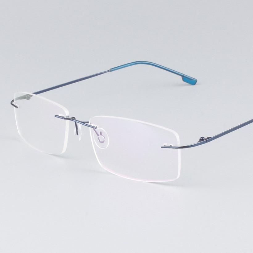 NYWOOH hombres ligero monturas de gafas sin montura gafas de titanio ...