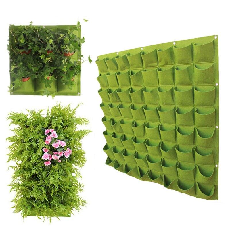Wall Hanging Plant Grow Bag 3/9/18/49/72 Pockets Green Vegetable Grow Bag DIY Planter Vertical Living Garden Bags Home Supplies