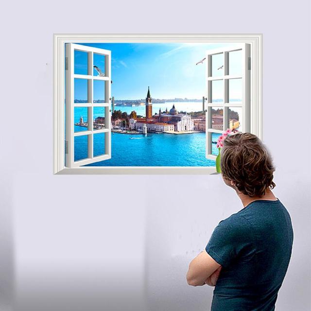D Window Wall Decals Custom Vinyl Decals - 3d window wall decals