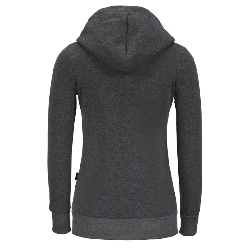 Casual Gray Autumn Harajuku Streetwear Warm Women Hoodies Slim Plain Zipper Pockets Fall Female Fashion Gothic Tops Sweatshirts in Hoodies amp Sweatshirts from Women 39 s Clothing