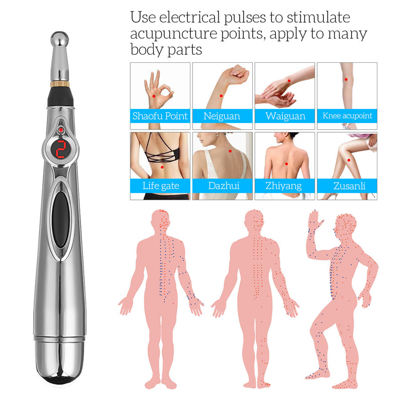 Electronic Acupuncture Pen Meridians Laser Acupuncture Machine Magnet Massager Chinese Therapy Handheld Acupoint Massage Stick 0