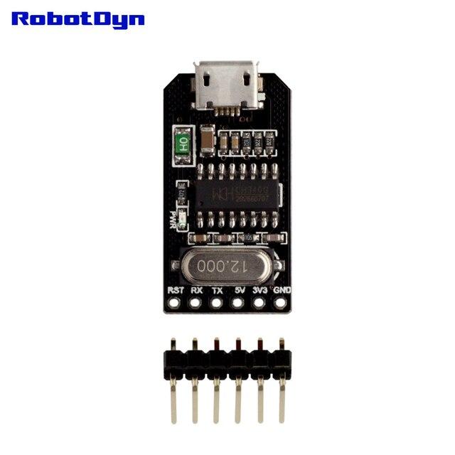 USB vers TTL UART CH340-convertisseur série, Micro USB, 5 V/3.3 V. IC CH340G