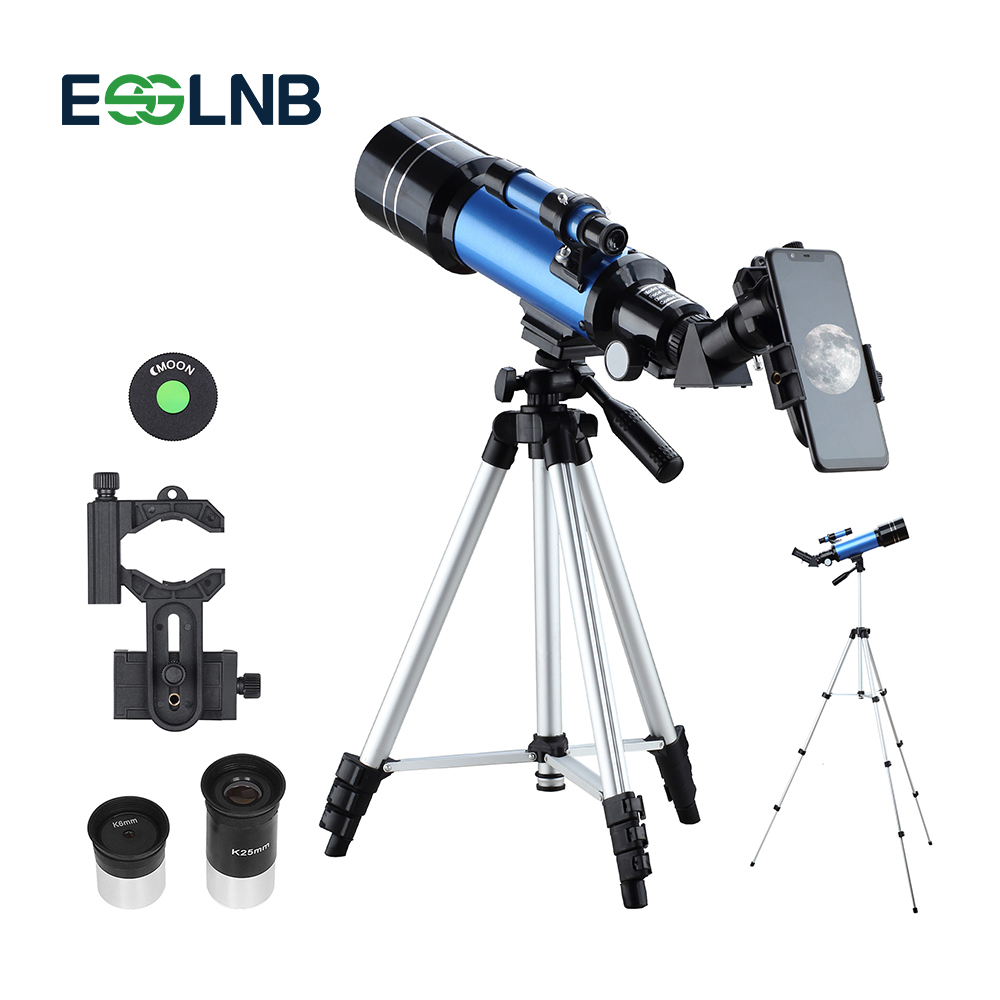 70400 Telescope With Adjustable Tripod Phone Adapter Erect Image Moon Watching Terrestrial Space Monocular For Beginner