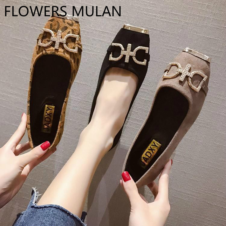 Luxury Bling Crystal Buckle Flat Shoes Women Metallic Toe Girl Loafers Slip On Zapatos De Mujer Shallow Female Cozy Shoes MulesLuxury Bling Crystal Buckle Flat Shoes Women Metallic Toe Girl Loafers Slip On Zapatos De Mujer Shallow Female Cozy Shoes Mules