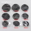 9 unidades/lotes de proteção da lente tampa da lente da câmera frontal capa 700d 60d d7000 d5100 a99 a77 49mm 52mm 55mm 58mm 62mm 67mm 72mm 77mm 82mm