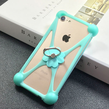 2019 New Lucky Clover Cover 3D Soft Silicon 4.0-6.0 inch Universal Case For Iphone Samsung Xiaomi Huawei more with phone ring 1