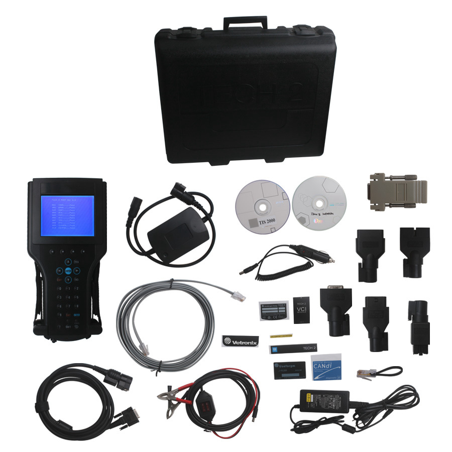 Hot !! Best Quality GM TECH2 Full Set Support 6 brands(G/M,O/PEL,S/AAB IS/UZU,S/UZUKI,HO/LDEN) GM Tech 2 diagnostic tool