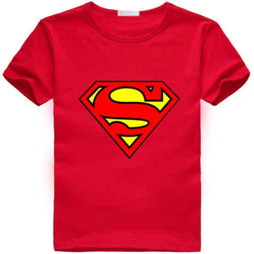 ילדים בייבי בנים הילדה Cartoon סופרמן חולצה כותנה חולצות חולצה בגדי סופר גיבור ילדים בייבי בנים הילדה Cartoon כותנה