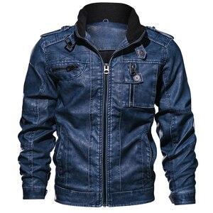Image 4 - Повседневные мужские Куртки из искусственной кожи, спортивные куртки для мотоциклов 6XL 7XL