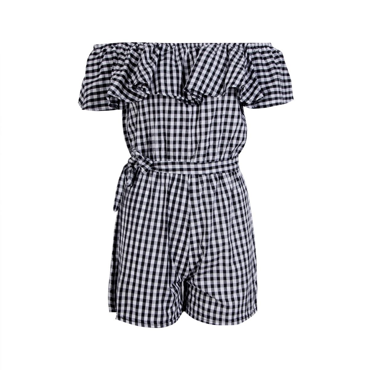 UK Playsuit Womens Holiday Floral Mini Playsuits <font><b>Off</b></font> <font><b>Shoulder</b></font> Ladies Shorts <font><b>Ruffles</b></font> <font><b>Rompers</b></font> Womens Jumpsuit <font><b>Plaid</b></font> Summer Clothes