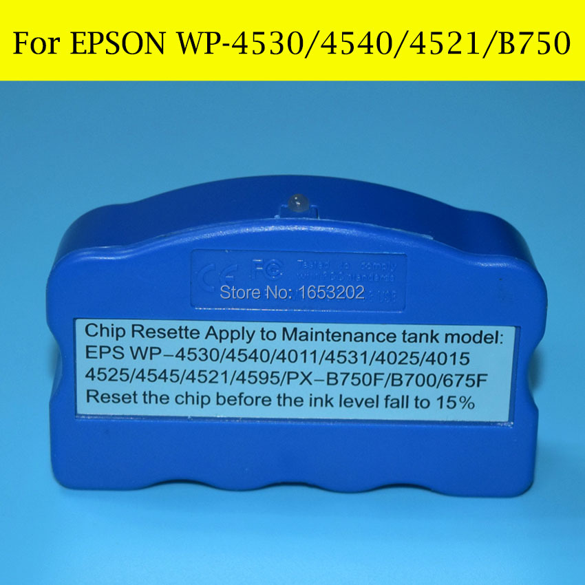 1 Piece Waste Ink/Maintenance Tank Chip Resetter For EPSON PX-B700 B750F WP-4011 4511 4521 4531 4525 4535 4545 Printer free shipping good price mc 05 maintenance box resetter for canon ipf500 waste ink tank