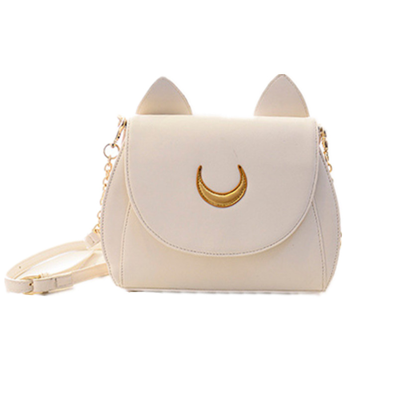 Cute cat ear shoulder bag chain bag 2017 women messenger bag fashion ladies PU leather handbag