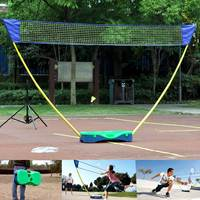 3 in 1 Outdoor Sport Badminton Tennis Volleyball Net Portable Stand Battledore Set Net Frame Supporting Stand Storage Case