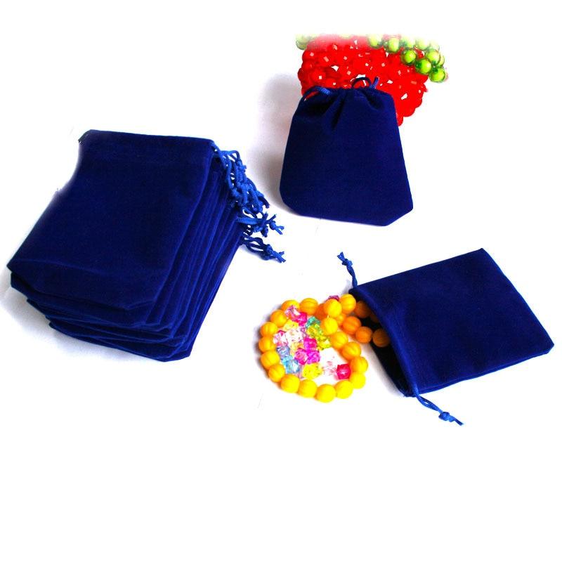 5Pcs/lot Dark Blue&Black 7x9cm Velvet Drawstring Pouch Bag/Jewelry Bag,Christmas/Wedding Gift Bag 2019 New Arrival