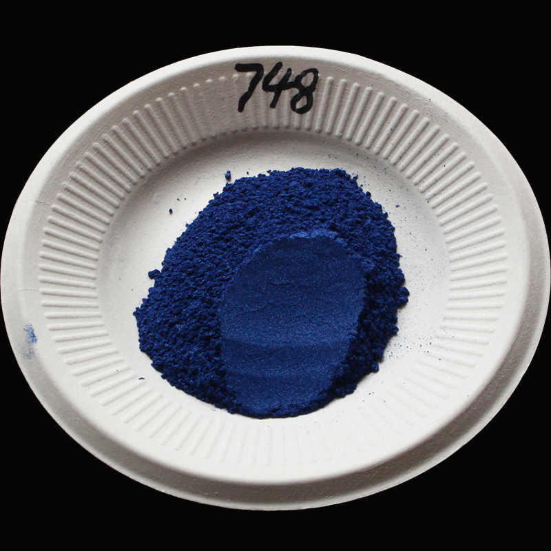 Type748 Blue Acrylic Paint Pigment, Pearl Powder Ceramic Paint Nail Polish Coating Art Crafts Leather Paint Car Paint 50g/packet