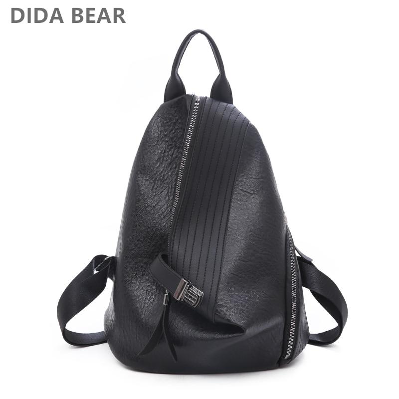 New Women Leather Backpacks Fashion Women's Backpack Black Shoulder bag Travel Bag Rucksack Female Bagpack Mochila Sac A Dos