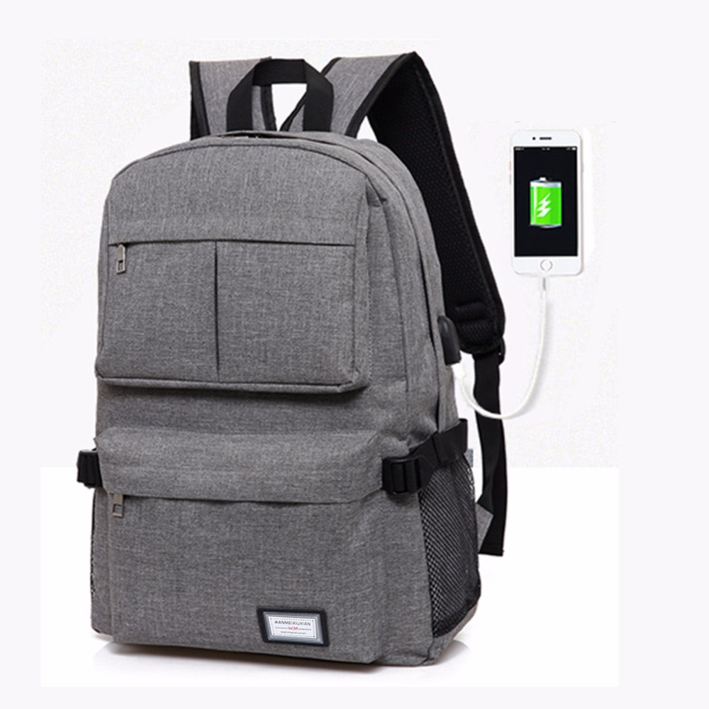 2017 USB Unisex Design Backpack Book Bags for School Backpack Casual Bag Rucksack Daypack Polyester Laptop Fashion Man Backpacks pabojoe women mens school backpack italian 100% genuine leather fashion book bag college daypack black fit 15inch laptop
