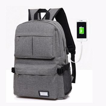 Hot Deals 2017 USB Unisex Design Backpack Book Bags for School Backpack  Casual Bag Rucksack Daypack Polyester Laptop Fashion Man Backpacks 865e6961070a9