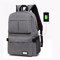 2017 USB Unisex Design Backpack Book Bags For School Backpack Casual Bag Rucksack Daypack Polyester Laptop