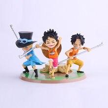 Vendita calda 3 pz lotto Anime Figure PVC Doll Giocattoli One Piece ASL  Rufy Ace Sabo Tre Fratelli PVC Modello 9 CM df3a0750d527