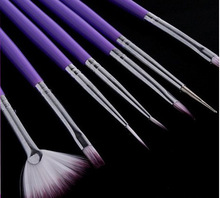 Nail Art Painting Pen purple Rod 7pcs Design Brush Manicure For Dotting Tool Light Therapy