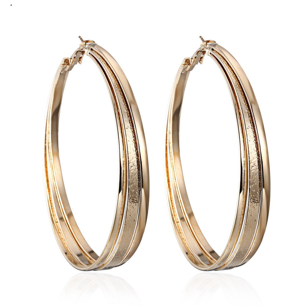 Hot Sale Hoop Earrings Big Circle Earrings Basketball Celebrity Loop Earrings for Women Jewelry ER17Y077M0