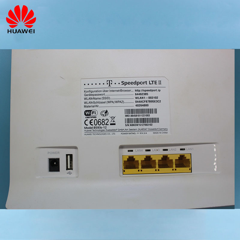 Unlocked Huawei B593 B593s-12 B593u-12 With Antenna And Without Antenna Cap  4G LTE Router 4G Router 4G LTE WiFi Router PKB310