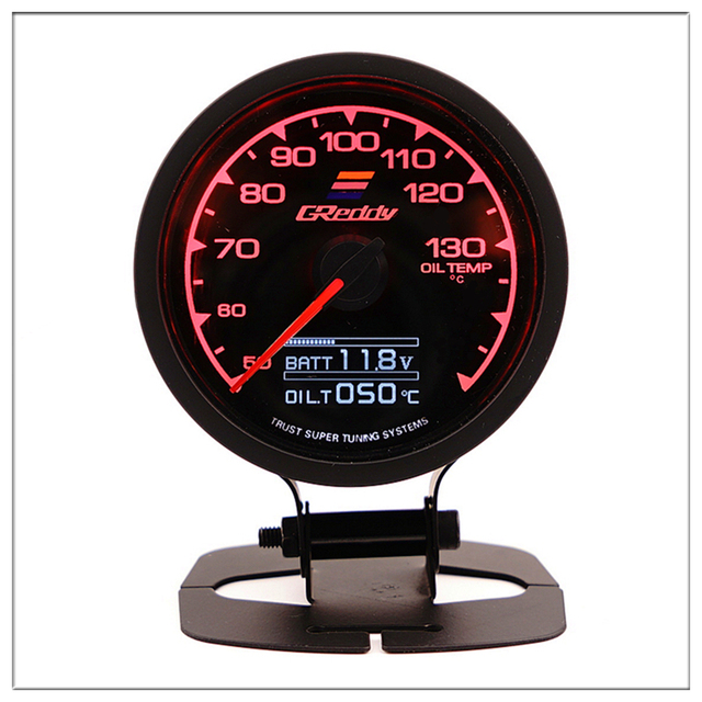 GReddi Oil Temperature Gauge For ford focus 1 2 mondeo mustang 50-130 Signal With Colorful light 12V Car Boost Gauge saat 60mm