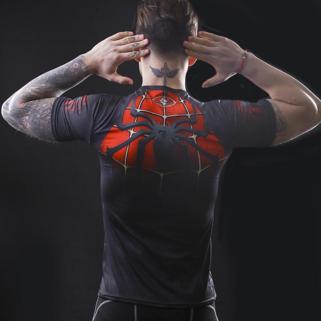 2017 Marvel fitness Shirt tights  short sleeve