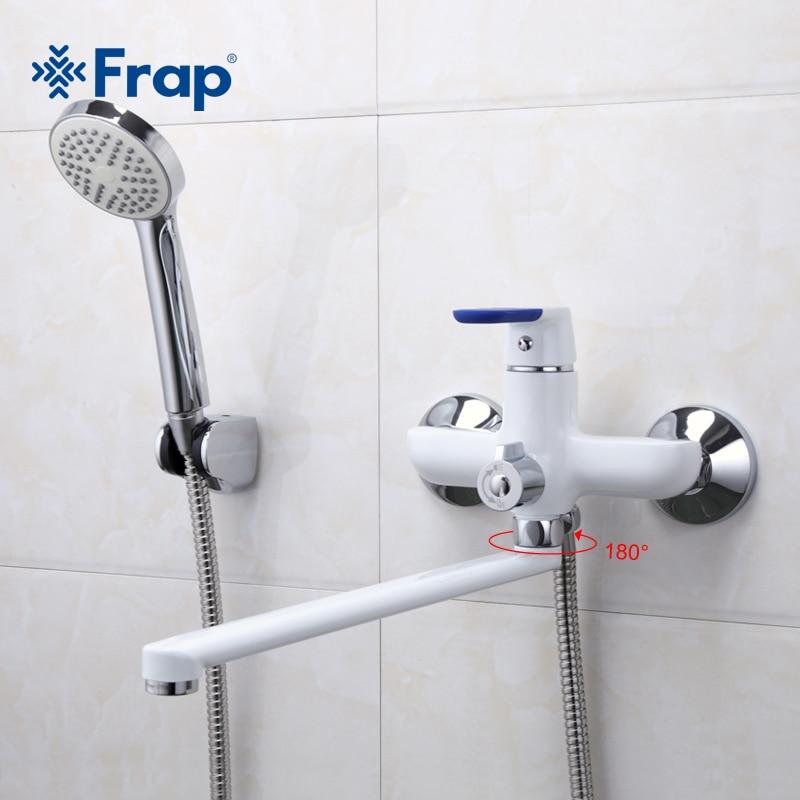 Frap 1 set Style Moderne Robinet de la Baignoire Mur Monté salle de bains robinets de douche ensemble Mélangeur D'eau Froide et Chaude Robinet 35 cm Long Nez F2234