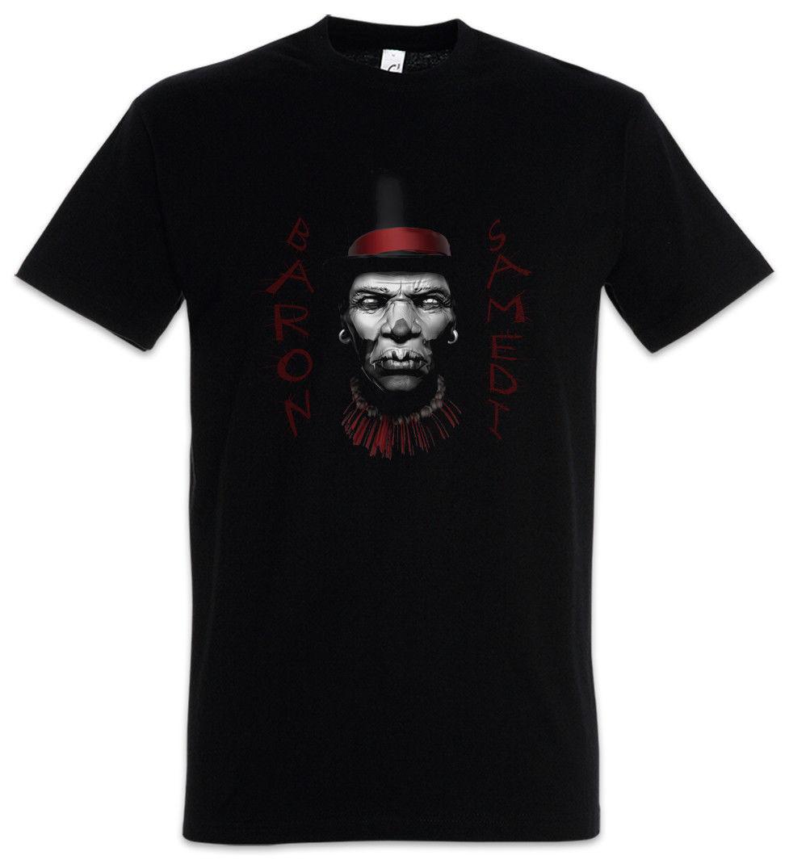 BARON SAMEDI I T-SHIRT Black Voodoo Bawon Haiti Samdi Loa Erzulie Kult Magie