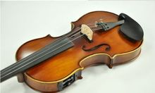 Handmade New Solid Maple Wood 4 Strings Electric / Acoustic Violin/Violino 4/4 With case bow rosin