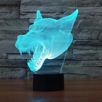 Kreative Led 3D Nachtlicht Großhandel Led Touch Acryl Atmosphäre Tisch Lampe 7 farbe ändern Remote Touch schalter Schreibtisch Lampe