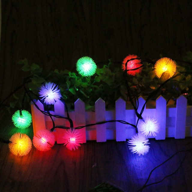 20 Leds Solar Lamps Rgb Led String Fairy Lights Garland Christmas Light Chain For Wedding Garden Party Decoration Outdoor