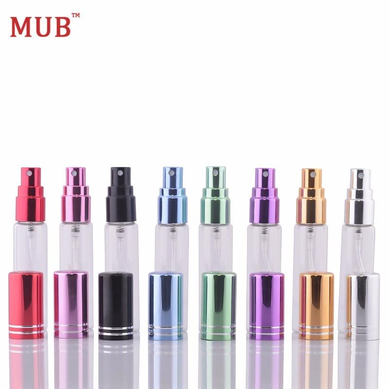 Mub 5 ml 10ml (100 개/몫) 빈 펌프 스프레이 parfum atomizer 재충전 용 유리 향수 병 스프레이 펌프-에서리필 병부터 미용 & 건강 의  그룹 1