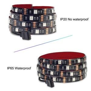 Image 5 - Usbli şerit LED 5050 RGB müzik denetleyicisi ses sensörü RF uzaktan kumanda ile IP20/IP65 müzik LED şerit ışık
