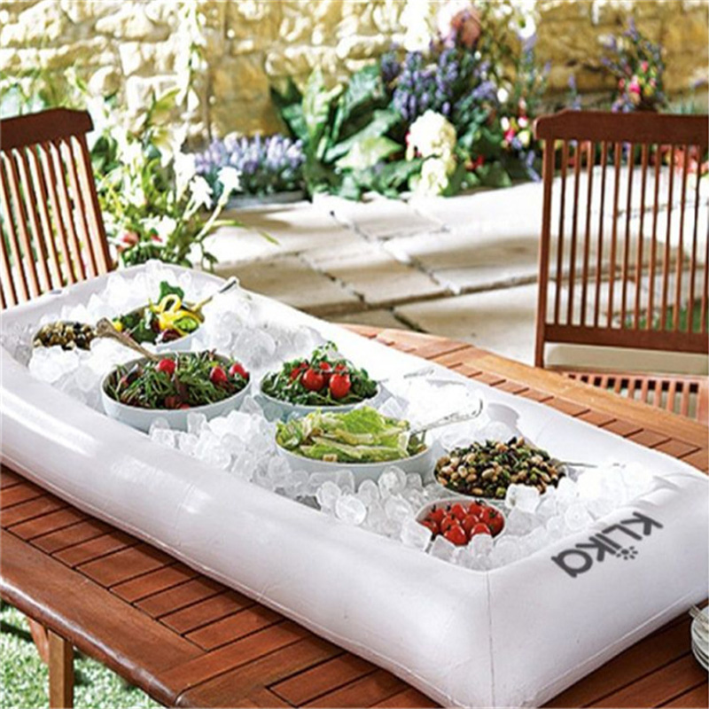 Outdoor Accessories Inflatable Serving Bar Salad Buffet Ice Cooler Picnic  Drink Table Party Camping Outdoor Dining Table135*65cm In Outdoor Tables  From ...