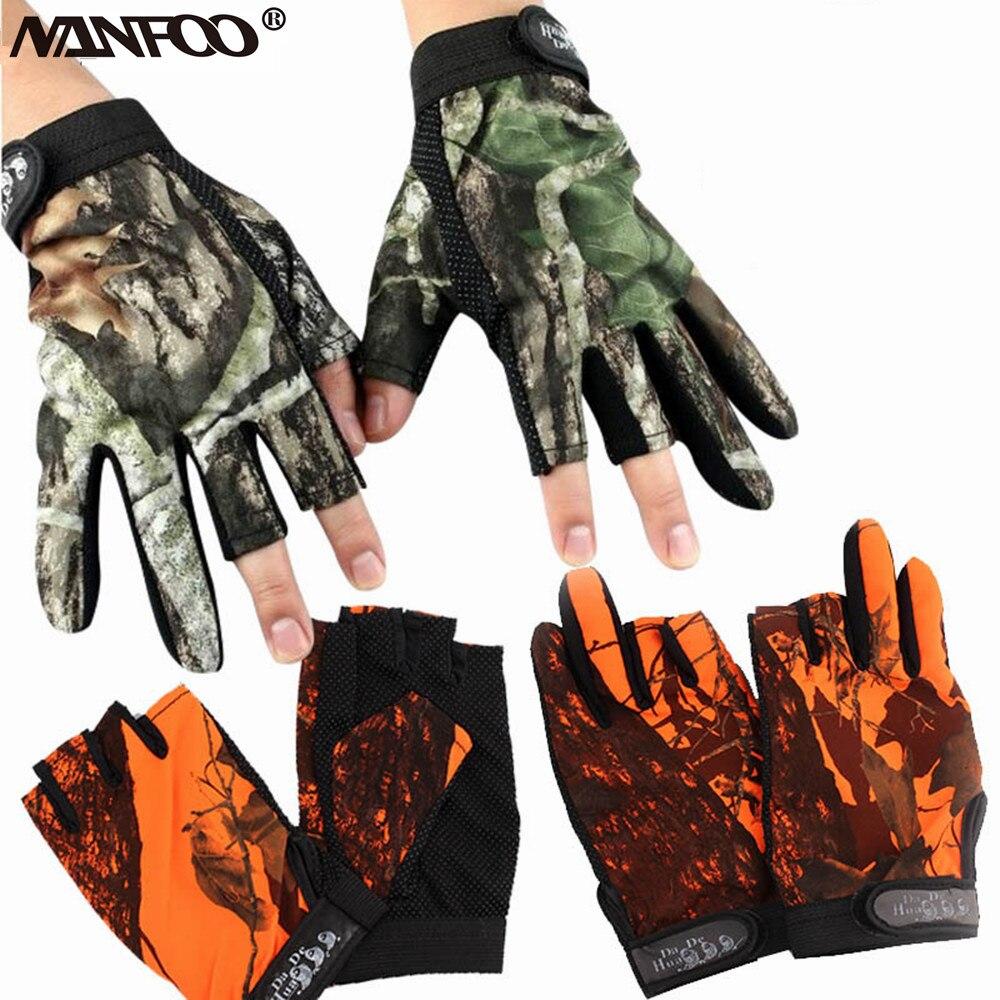 IVEN 1 par de guantes de camuflaje de hoja 3D al aire libre antideslizante deportes caza guantes para hombres ideal para uso en Woodland